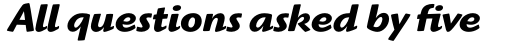 Highlander Std Bold Italic sample