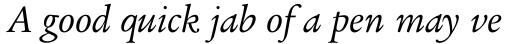 Legacy Serif Std Book Italic sample