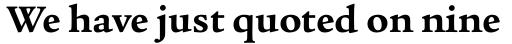 Legacy Serif Std Bold sample