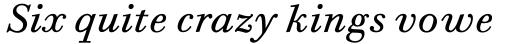 Bodoni Six Std Book Italic sample