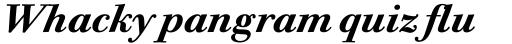 Bodoni Twelve Std Bold Italic sample