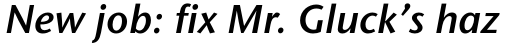Stone Sans Std SemiBold Italic sample