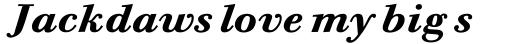 Bodoni Six Bold Italic sample