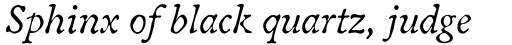 Oldbook Std Italic sample