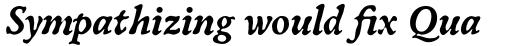 Oldbook Std Bold Italic sample
