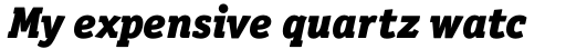 Officina Serif Pro Black Italic sample