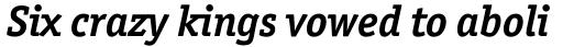 Officina Serif Pro Bold Italic sample