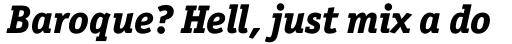 Officina Serif Pro ExtraBold Italic sample