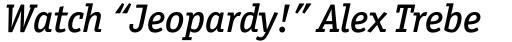 Officina Serif Pro Medium Italic sample