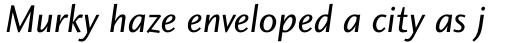 Charlotte Sans Std Book Italic sample