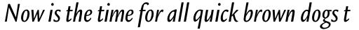 Legacy Sans Std Condensed Medium Italic sample