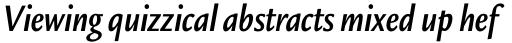 Legacy Sans Std Condensed Bold Italic sample