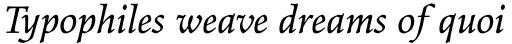 Elysium Std Book Italic sample