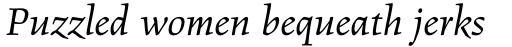 Figural Std Book Italic sample