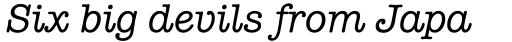 American Typewriter Std Medium Italic sample