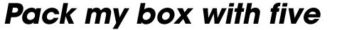 ITC Avant Garde Gothic Std Bold Oblique sample