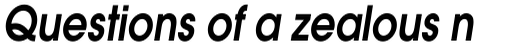 ITC Avant Garde Gothic Std DemiBold Oblique sample