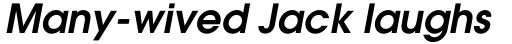 ITC Avant Garde Gothic Pro DemiBold Oblique sample