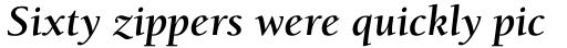 ITC Berkeley Old Style Std Bold Italic sample