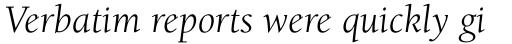 ITC Berkeley Old Style Std Book Italic sample