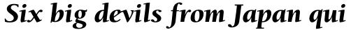 ITC Berkeley Old Style Pro Black Italic sample