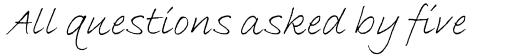 Bradley Hand Std Italic sample