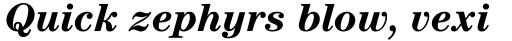 ITC Century Std Bold Italic sample
