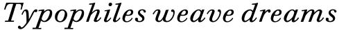 Bodoni Six OS Book Italic sample