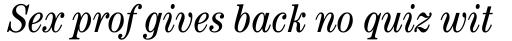 ITC Century Std Cond Book Italic sample