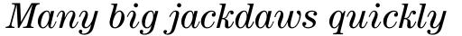 ITC Century Std Book Italic sample