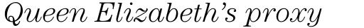 ITC Century Std Light Italic sample
