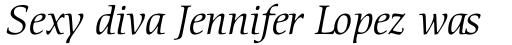 ITC Cerigo Std Book Italic sample