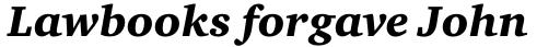 Charter Pro Black Italic sample