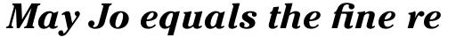 ITC Cheltenham Std Bold Italic sample