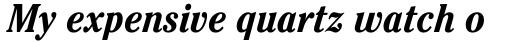 ITC Cheltenham Std Condensed Bold Italic sample