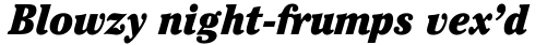 ITC Cheltenham Std Condensed Ultra Italic sample