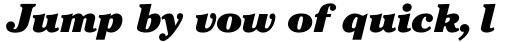 ITC Cheltenham Std Ultra Italic sample