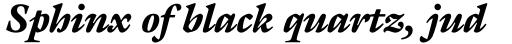 ITC Galliard Pro Black Italic sample