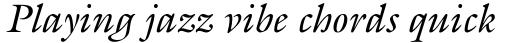 ITC Galliard Pro Italic sample