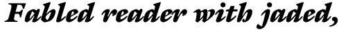 ITC Galliard Pro Ultra Italic sample