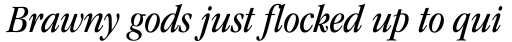 ITC Garamond Std Book Condensed Italic sample