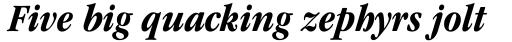 ITC Garamond Std Condensed Bold Italic sample