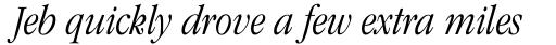 ITC Garamond Std Light Condensed Italic sample