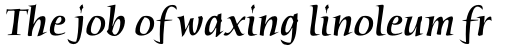 Humana Std Medium Italic sample