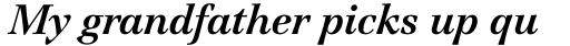 Jamille Std Bold Italic sample