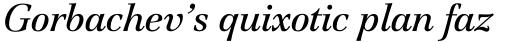 Jamille Std Book Italic sample