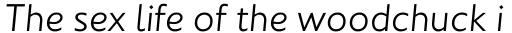 Johnston Std Light Italic sample