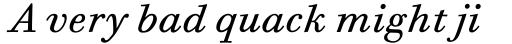 Bodoni Six Book Italic sample