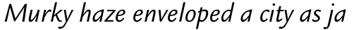 Legacy Sans Pro Book Italic sample