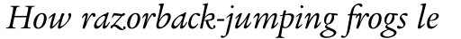 Legacy Serif Pro Book Italic sample